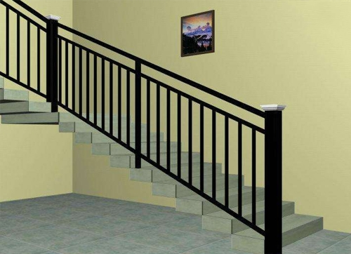 蓬莱不锈钢楼梯扶手安装